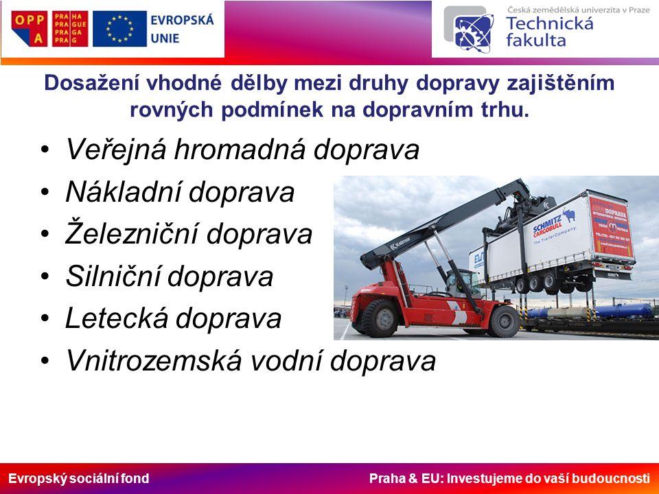 Evropský sociální fond Praha & EU: Investujeme do vaší budoucnosti Podpora rozvoje dopravy v regionech.