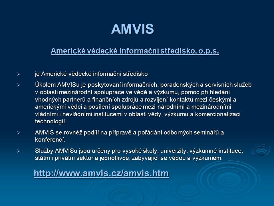 AMVIS Americké vědecké informační středisko, o.p.s.