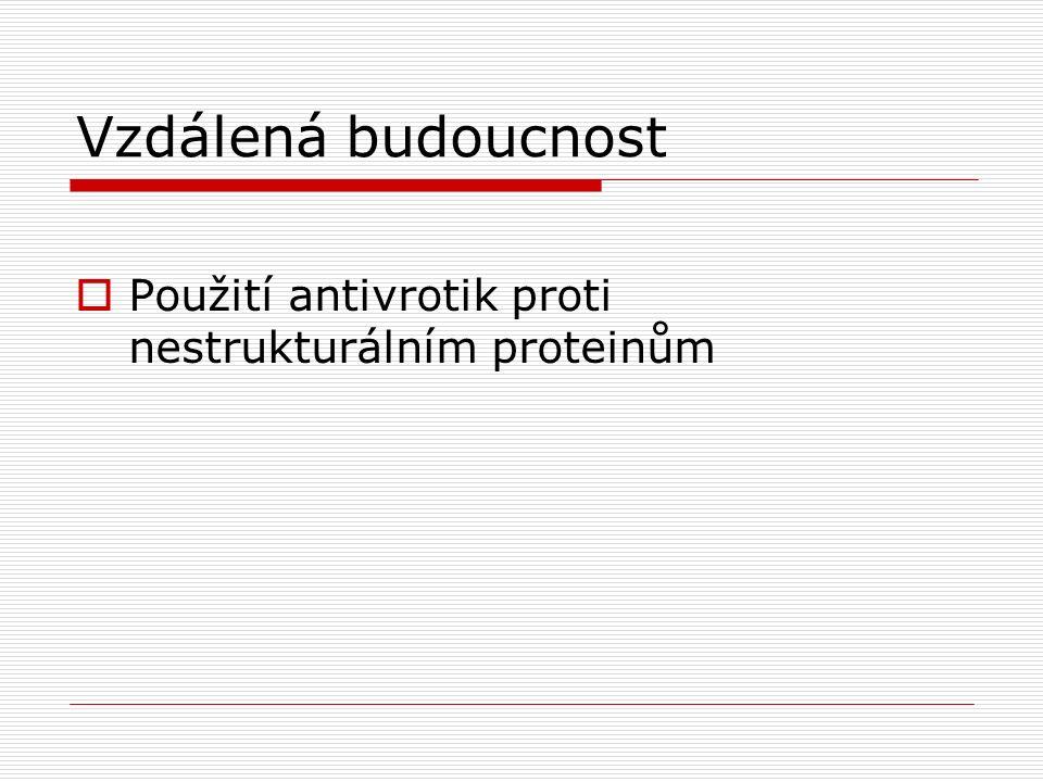 Vzdálená budoucnost  Použití antivrotik proti nestrukturálním proteinům