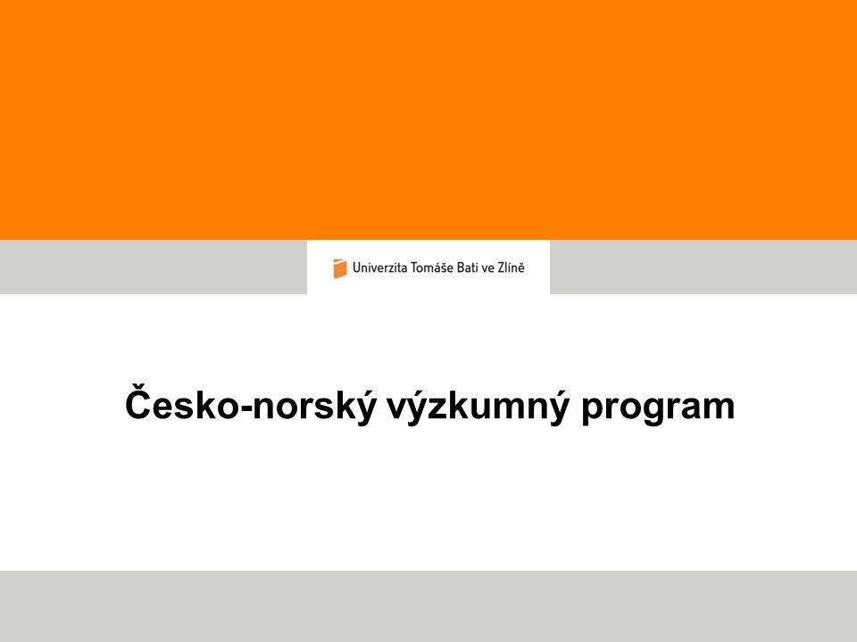 Česko-norský výzkumný program