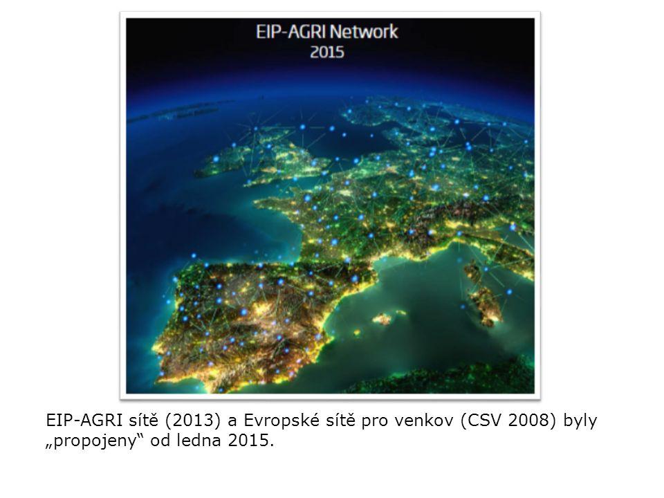 """EIP-AGRI sítě (2013) a Evropské sítě pro venkov (CSV 2008) byly """"propojeny"""" od ledna 2015."""