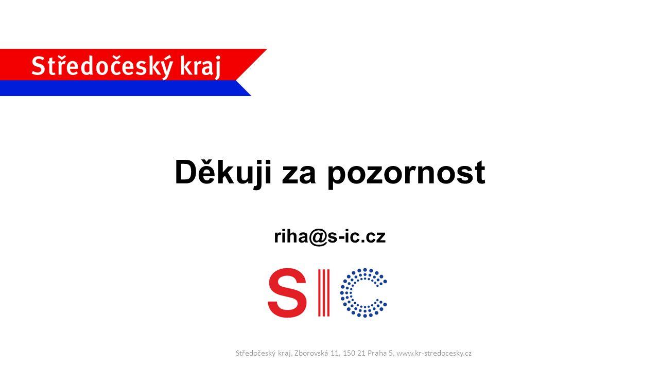 Děkuji za pozornost riha@s-ic.cz Středočeský kraj, Zborovská 11, 150 21 Praha 5, www.kr-stredocesky.cz