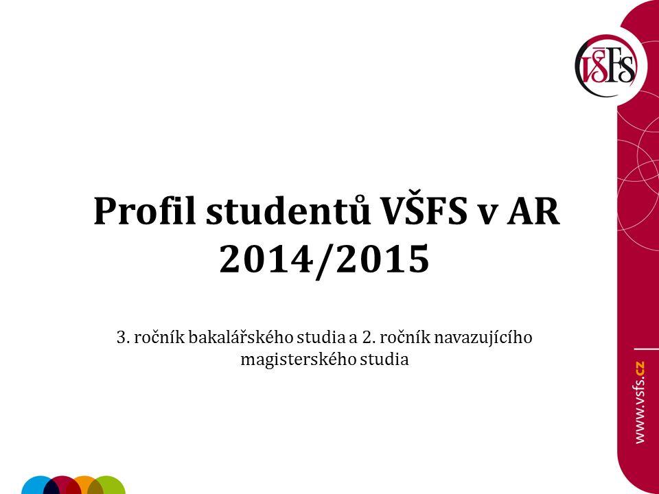 Profil studentů VŠFS v AR 2014/2015 3. ročník bakalářského studia a 2.