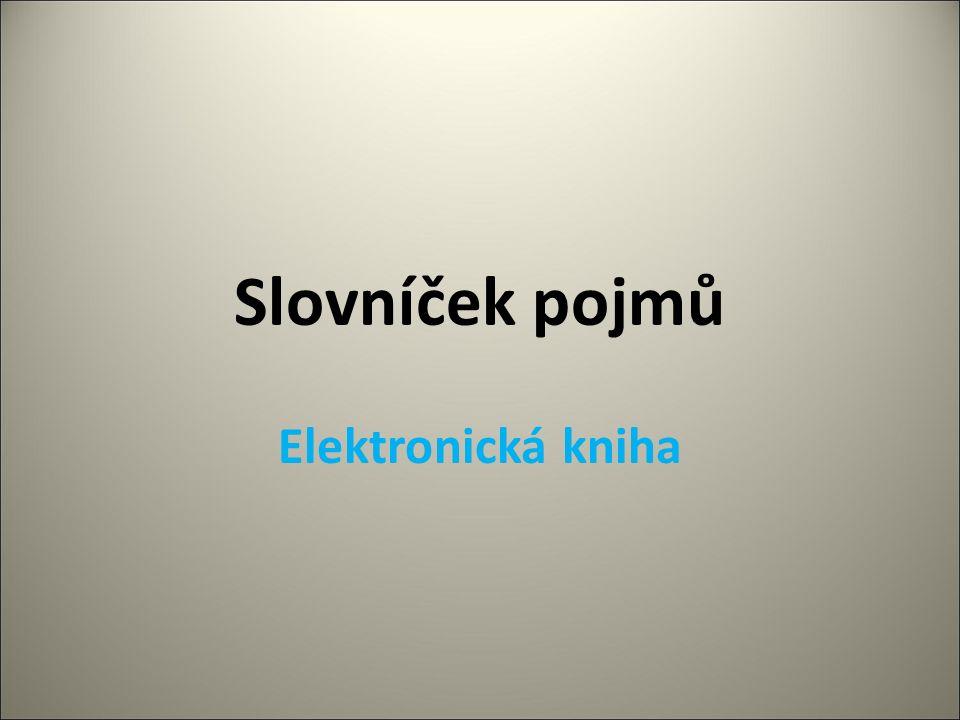 Slovníček pojmů Elektronická kniha