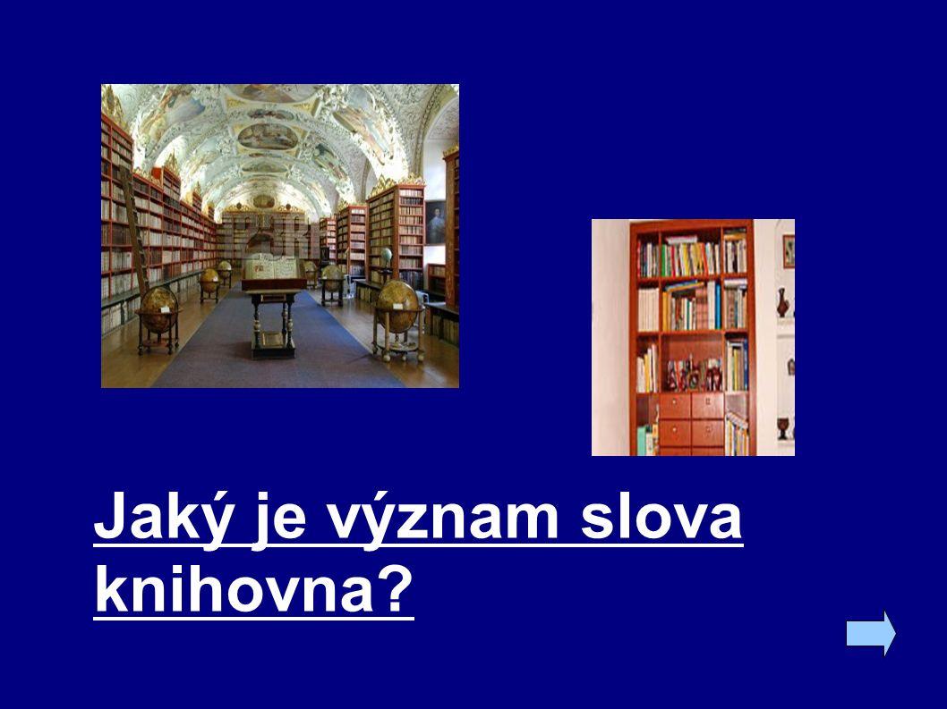 Jaký je význam slova knihovna?