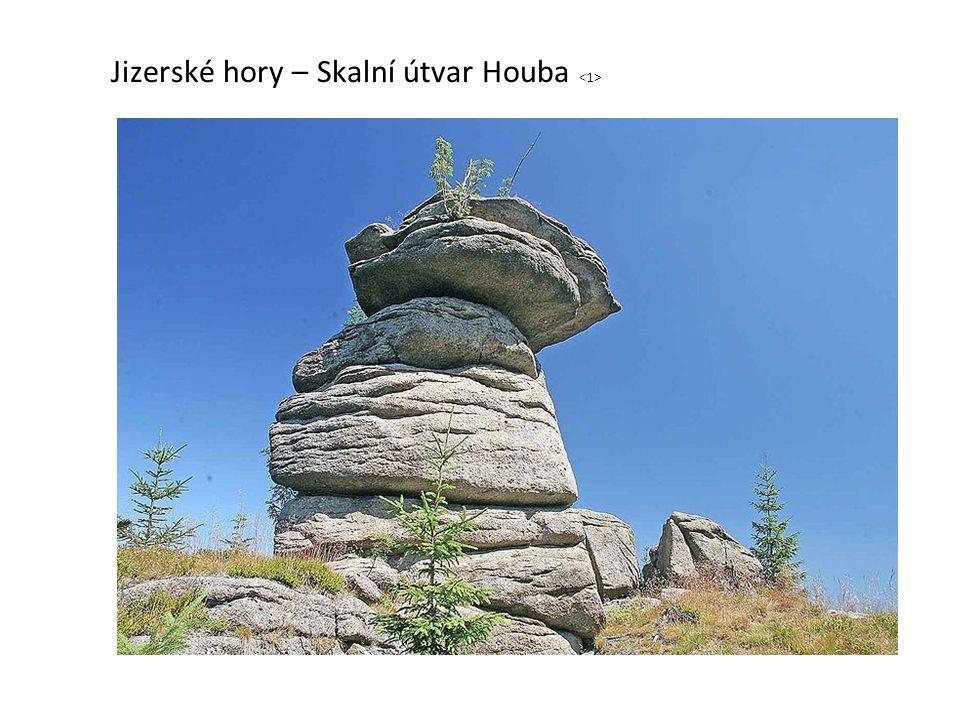 Jizerské hory – Skalní útvar Houba