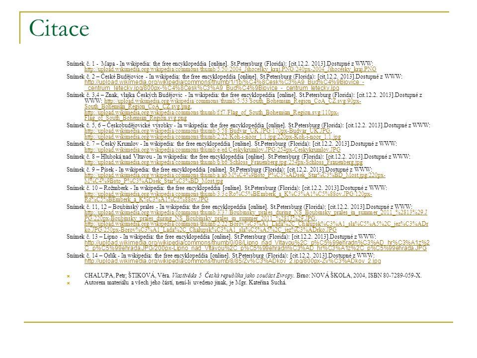 Citace Snímek č. 1 - Mapa - In wikipedia: the free encyklopeddia [online].