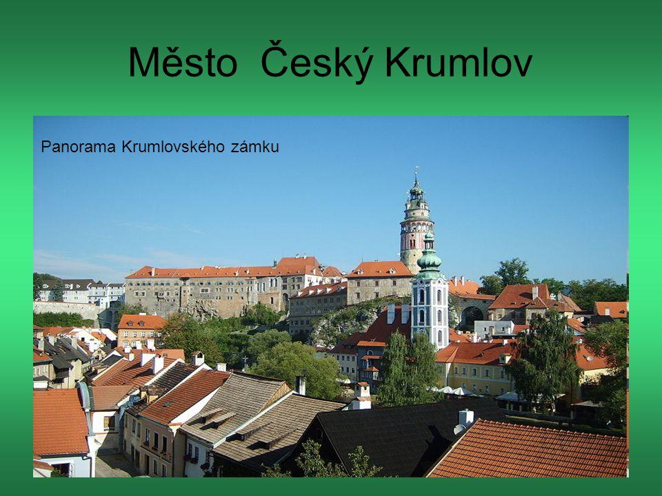 Město Český Krumlov Panorama Krumlovského zámku