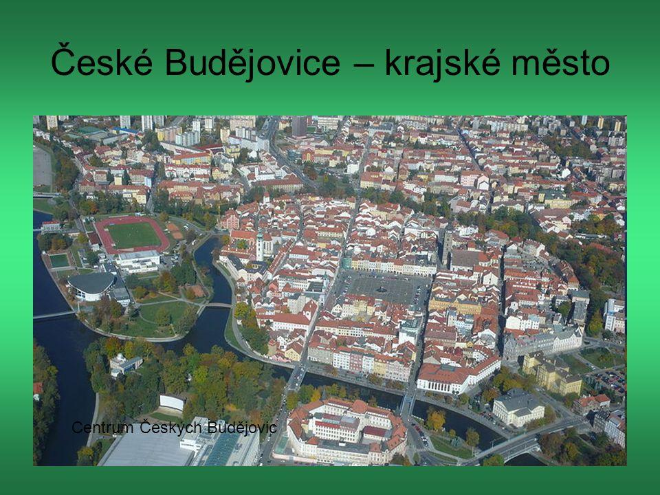 České Budějovice – krajské město Centrum Českých Budějovic