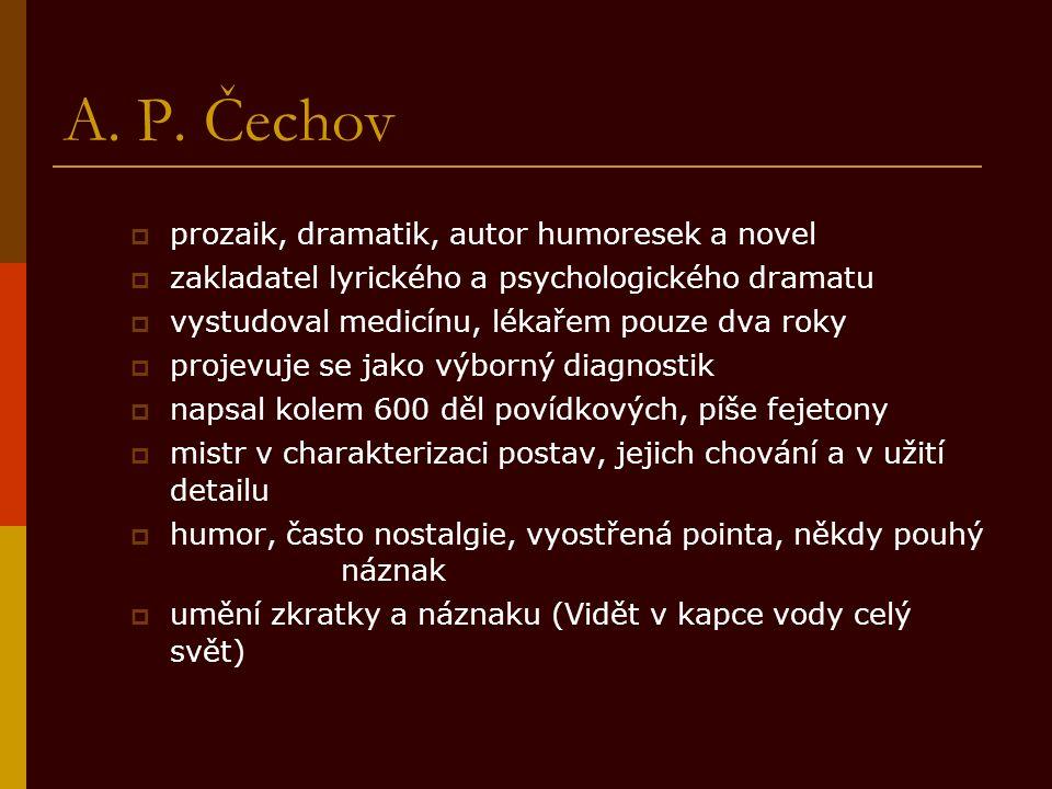 Citace  Čechov, Anton Pavlovič, 1860-1904.Dramata.