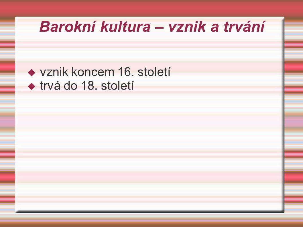 Název BAROKO  Pravděpodobně z portugalského slova barocco = perla nepravidelného tvaru barocco = perla nepravidelného tvaru