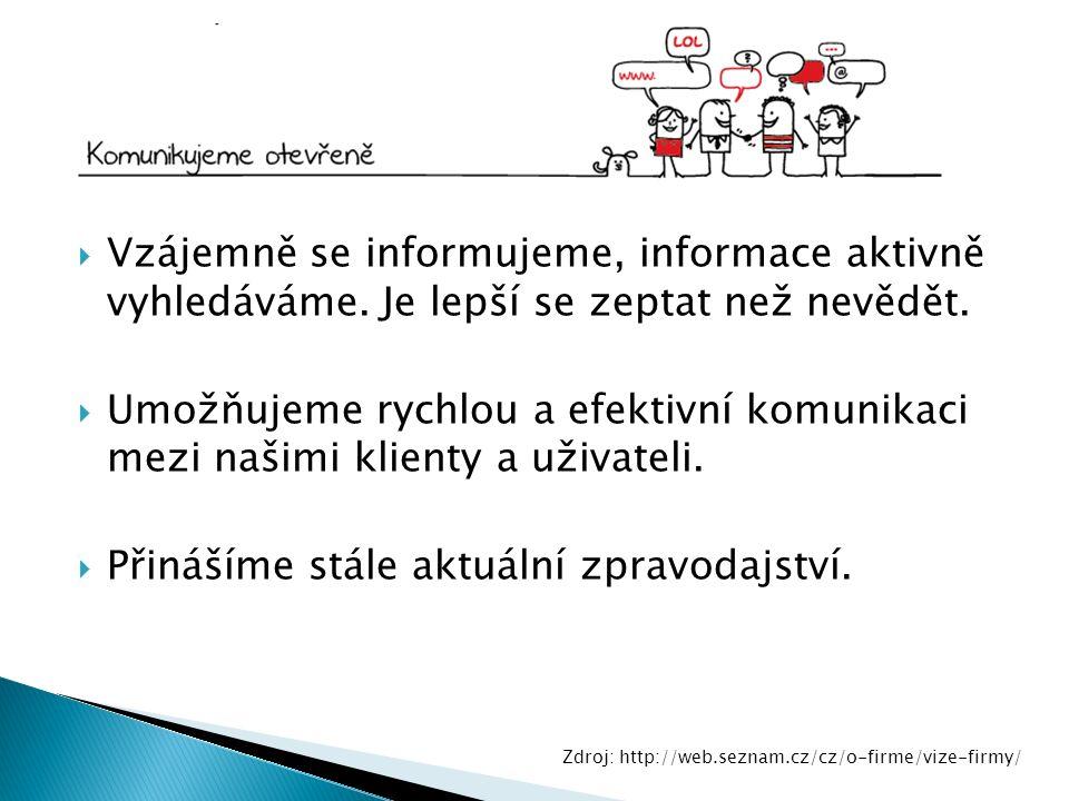  Vzájemně se informujeme, informace aktivně vyhledáváme.