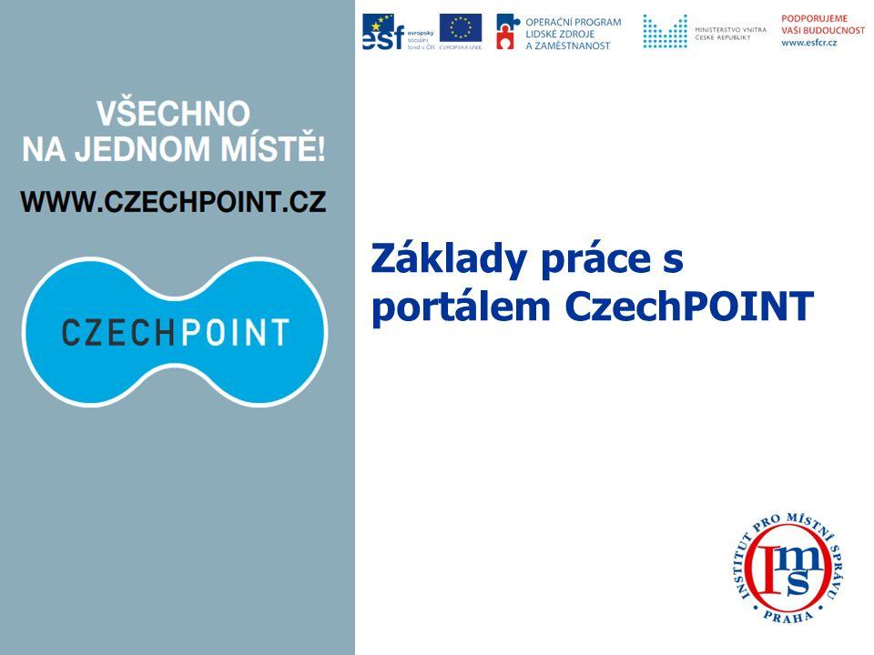Základy práce s portálem CzechPOINT