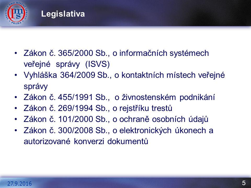 5 Legislativa 27.9.2016 Zákon č.