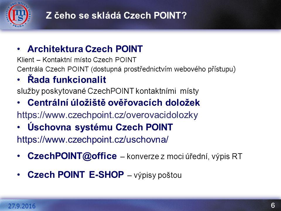 6 Z čeho se skládá Czech POINT.