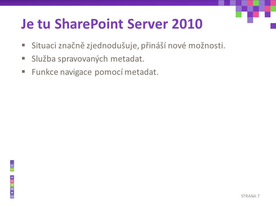 (Přestávka) SharePoint Server 2010: Spravovaná metadata a taxonomie Josef Machytka MCTS, MCPD, MCITP josef.machytka2@cleverlance.com
