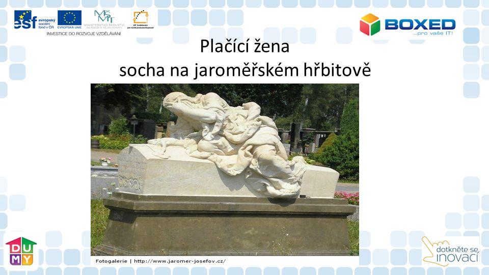 Plačící žena socha na jaroměřském hřbitově