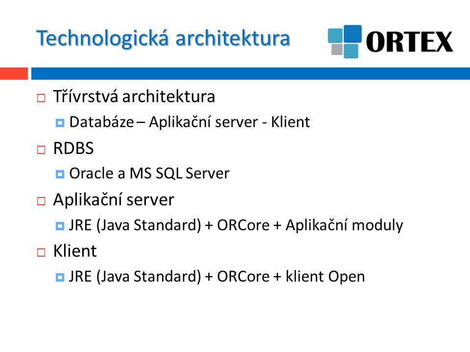 ORCore  ORCore RTM  Jádro systému  Náhrada stávajícího aplikačního serveru MF5