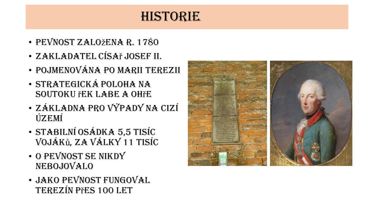 historie Pevnost zalo ž ena r. 1780 Zakladatel císa ř Josef II.