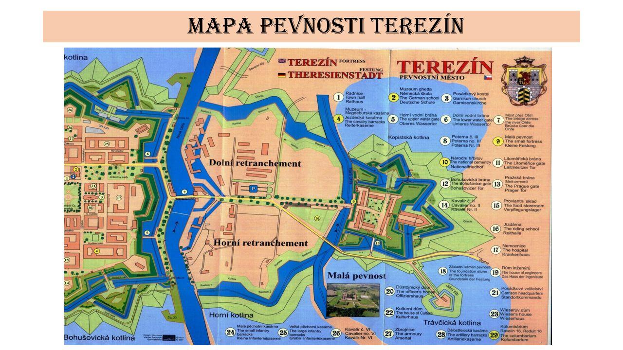 Mapa pevnosti terezín