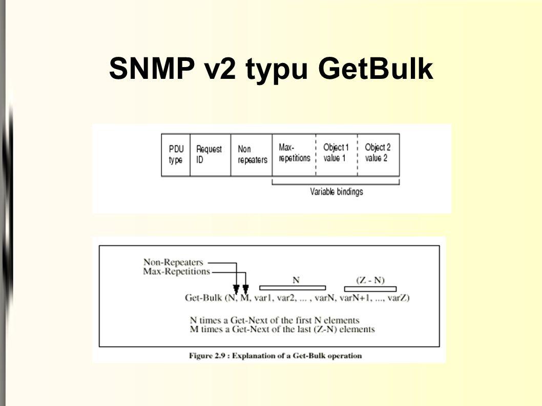 SNMP v2 typu GetBulk