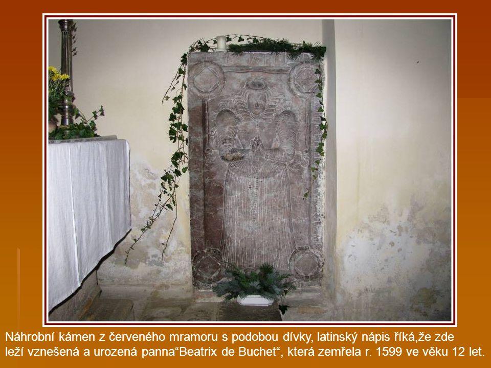 Boční oltář pocházející ze zrušeného kostela sv. Rocha pod Saským mostem. Socha sv. Immaculaty (vznášející se Panny Marie).