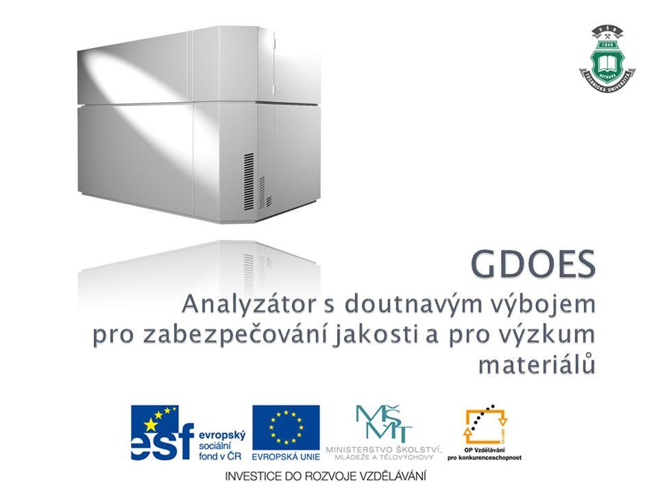 GDOES Analyzátor s doutnavým výbojem pro zabezpečování jakosti a pro výzkum materiálů