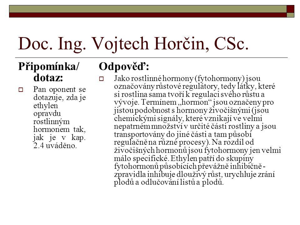 Doc. Ing. Vojtech Horčin, CSc.