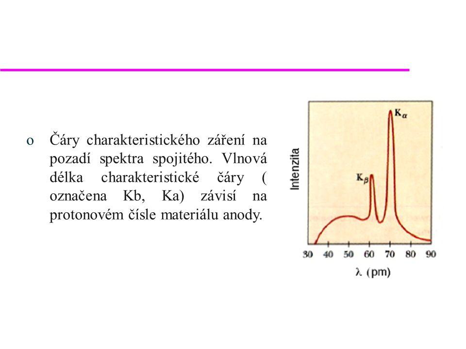 Detekce spektra oPoužívány jsou tři základní typy detektorů: oPlynově proporcionální – změna vodivosti plynu ionizovaného dopadajícím zářením, oScintilační, oPolovodičový.