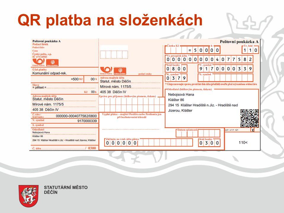 QR platba na složenkách
