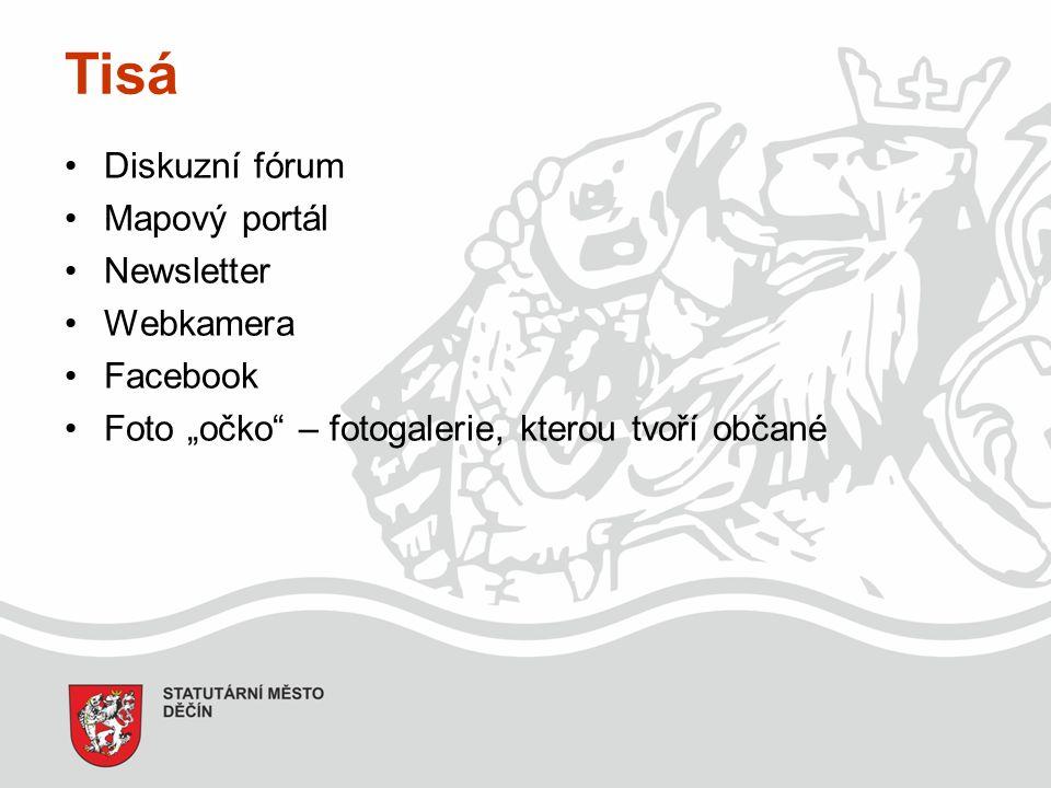 """Tisá Diskuzní fórum Mapový portál Newsletter Webkamera Facebook Foto """"očko – fotogalerie, kterou tvoří občané"""