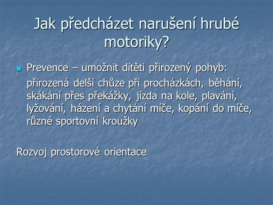 Jak předcházet narušení hrubé motoriky? Prevence – umožnit dítěti přirozený pohyb: Prevence – umožnit dítěti přirozený pohyb: přirozená delší chůze př
