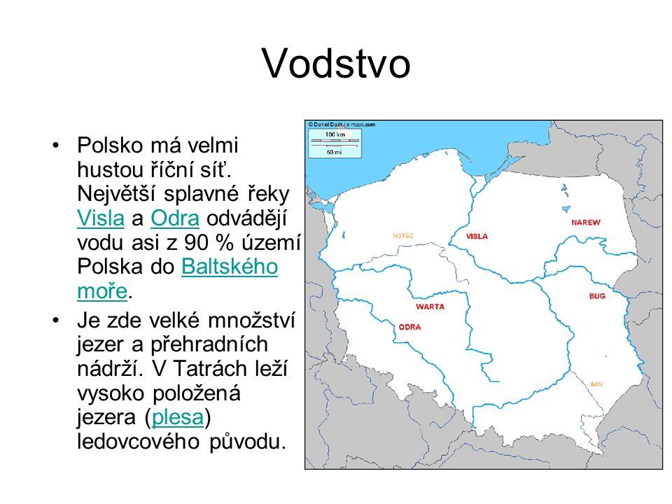 Polsko má velmi hustou říční síť. Největší splavné řeky Visla a Odra odvádějí vodu asi z 90 % území Polska do Baltského moře. VislaOdraBaltského moře