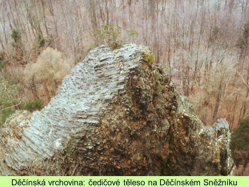 Děčínská vrchovina: čedičové těleso na Děčínském Sněžníku