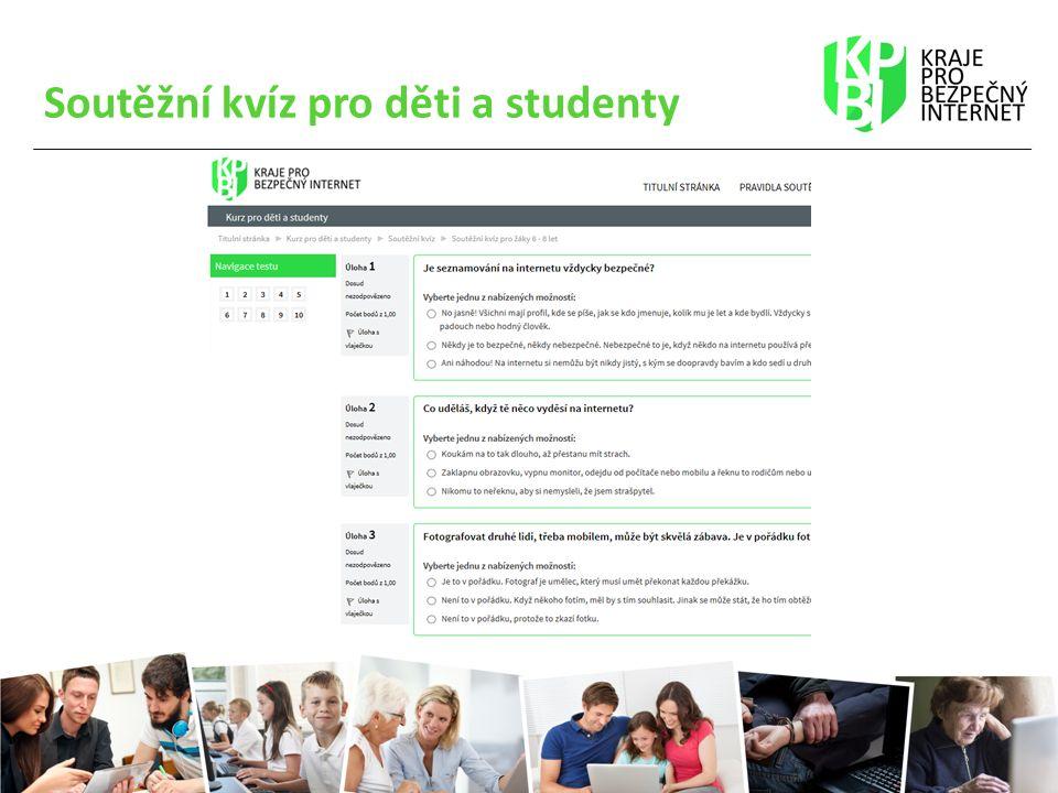 Soutěžní kvíz pro děti a studenty