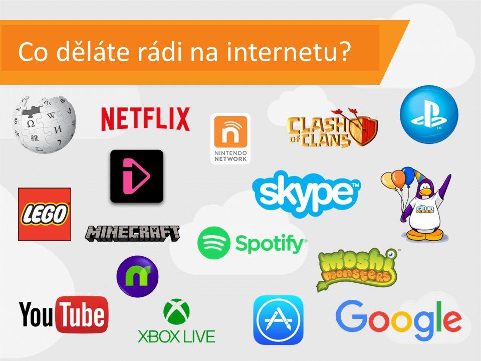 Co děláte rádi na internetu?