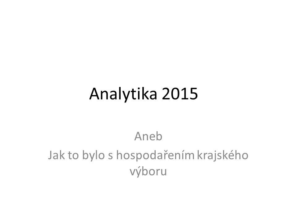 Analytika 2015 Aneb Jak to bylo s hospodařením krajského výboru
