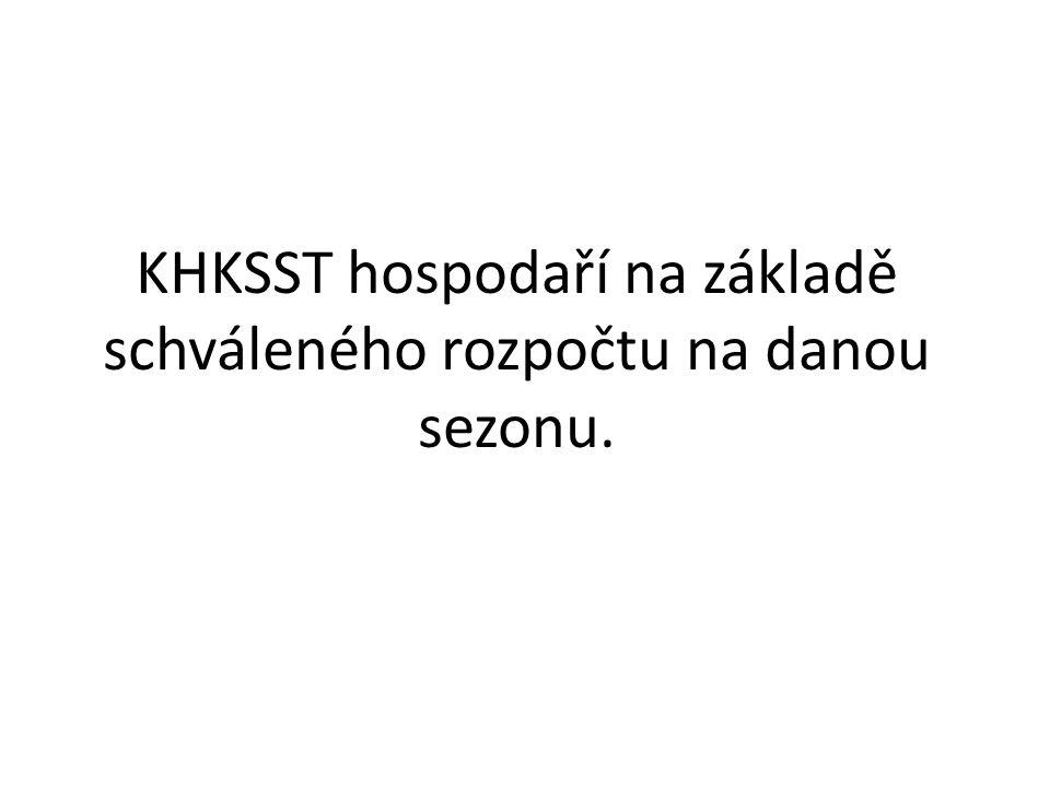KHKSST hospodaří na základě schváleného rozpočtu na danou sezonu.