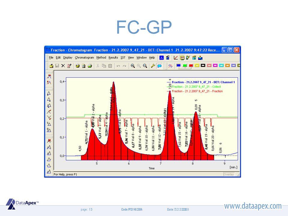 page: FC-GP Date 7.2.200813Code P014/26A Date: 3.11.200913Code: P016/28A