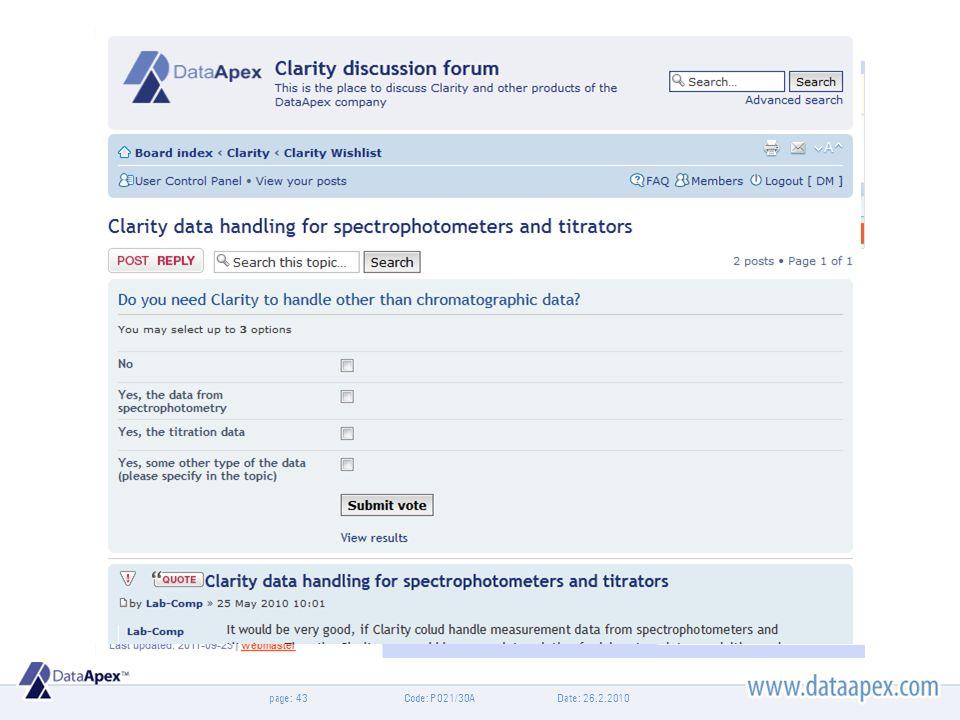 page:Date: 26.2.2010Code: P021/30A43 Diskuzní fórum