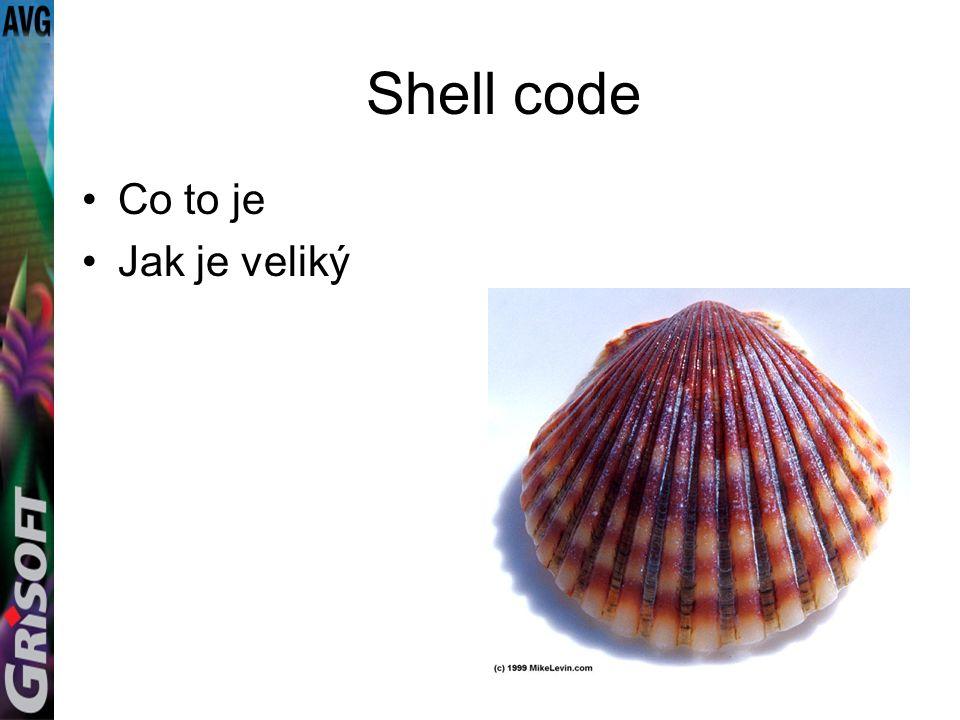 Shell code Co to je Jak je veliký