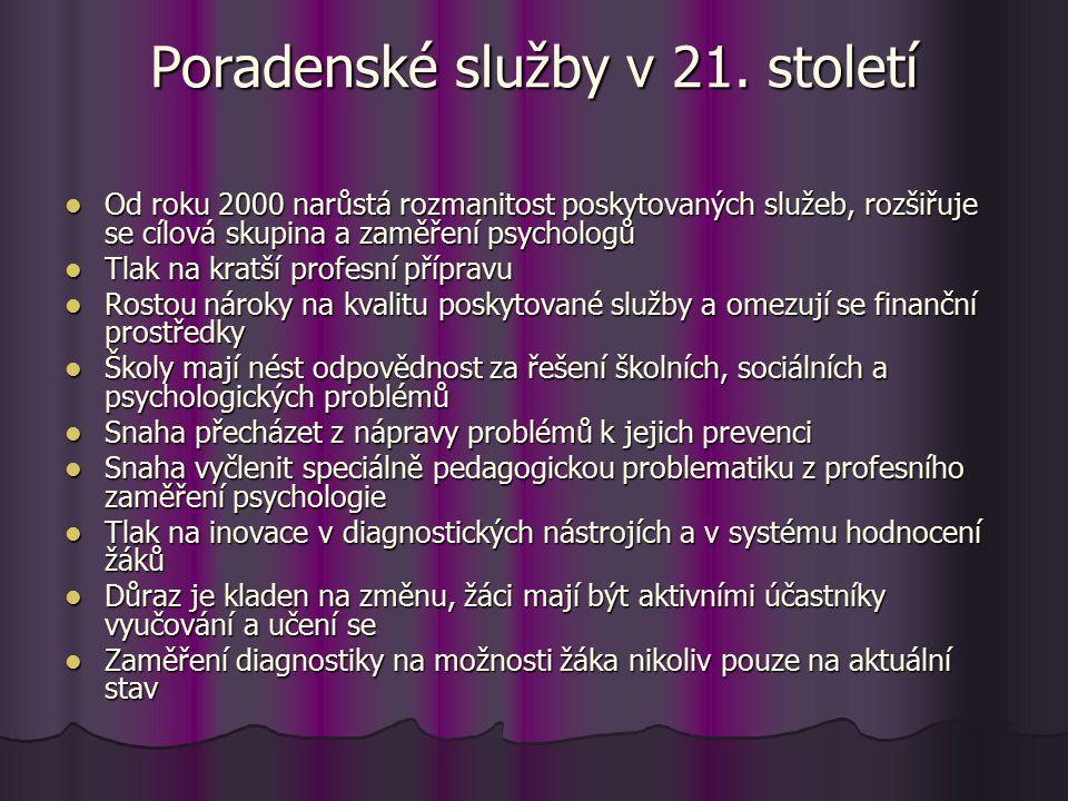Poradenské služby v 21.