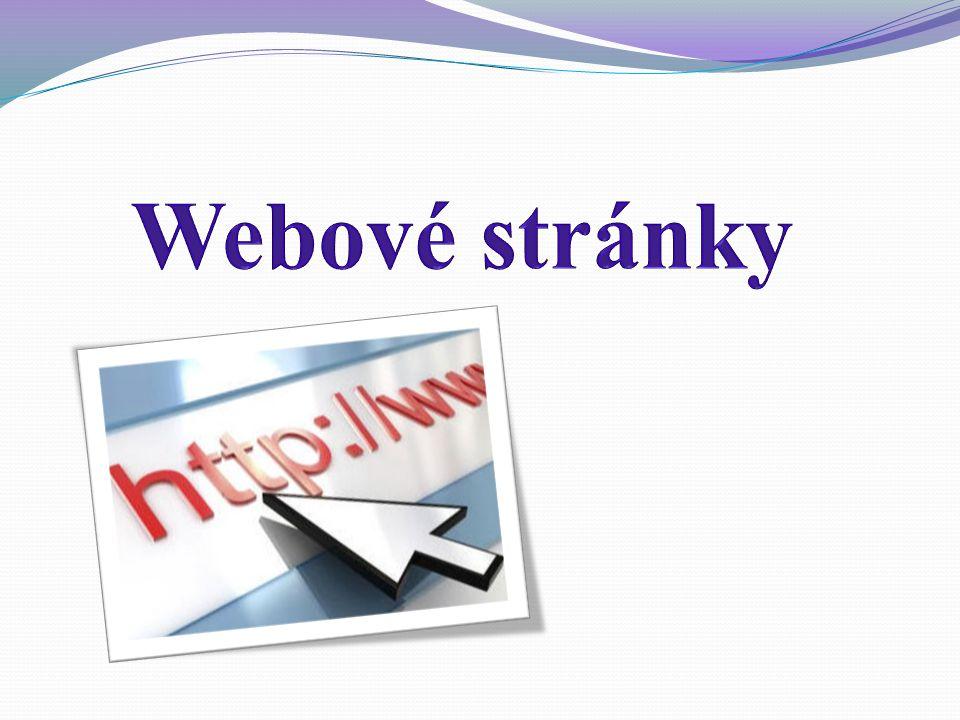 Co je to webová stránka.