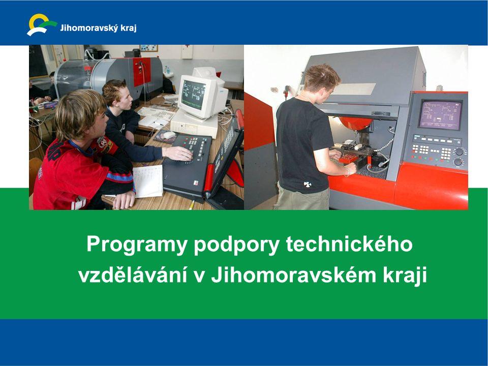 Programy podpory technického vzdělávání v Jihomoravském kraji
