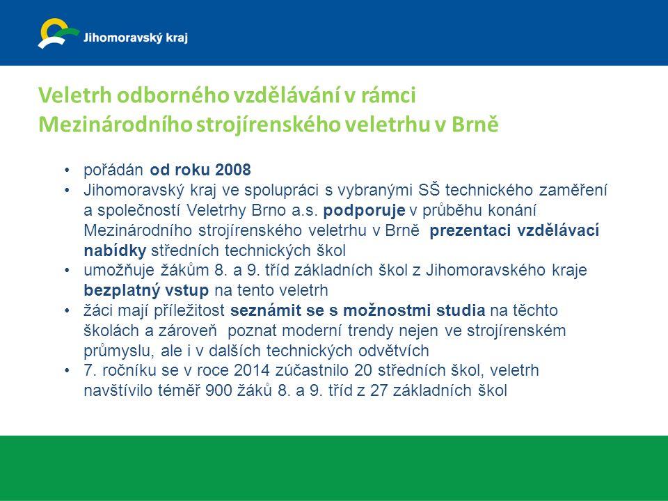 pořádán od roku 2008 Jihomoravský kraj ve spolupráci s vybranými SŠ technického zaměření a společností Veletrhy Brno a.s.