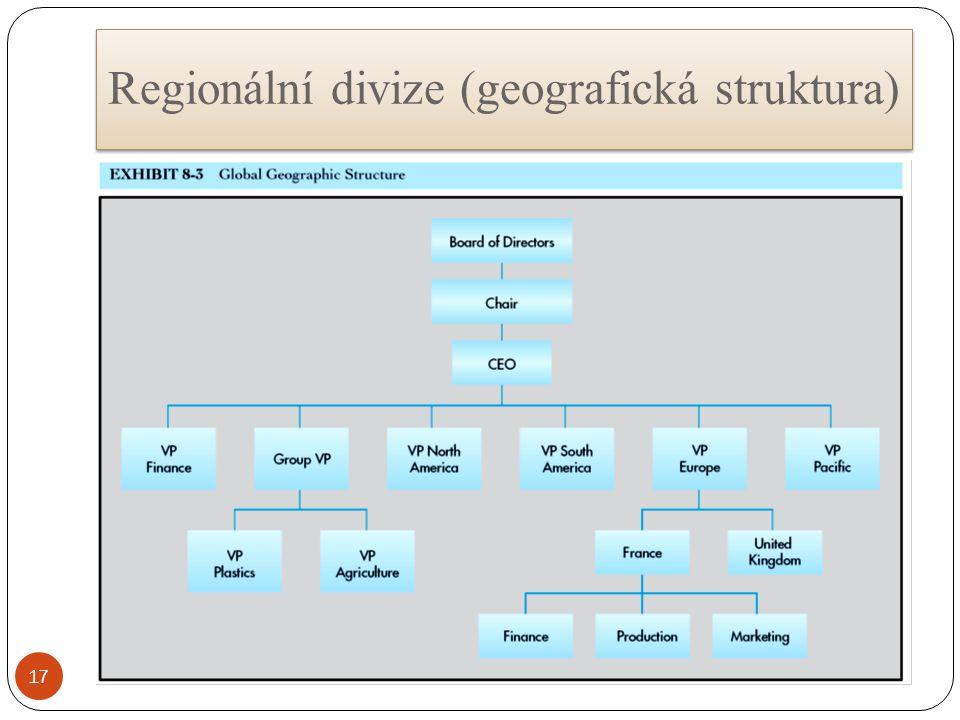Regionální divize (geografická struktura) 17