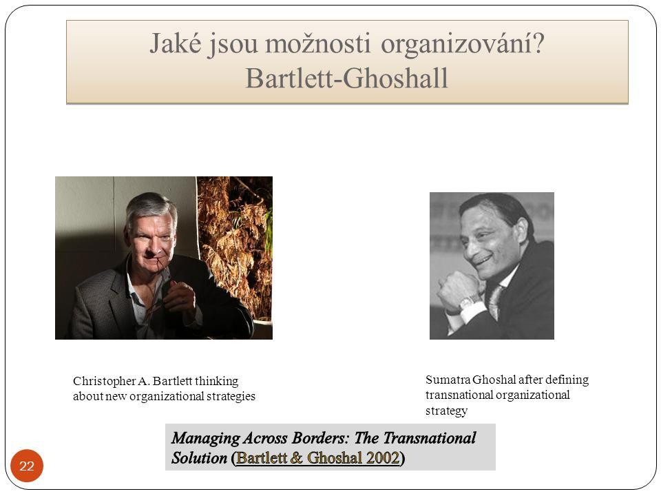 Jaké jsou možnosti organizování. Bartlett-Ghoshall Jaké jsou možnosti organizování.