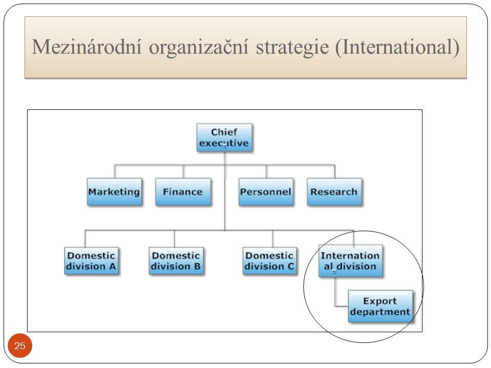 Mezinárodní organizační strategie (International) 25