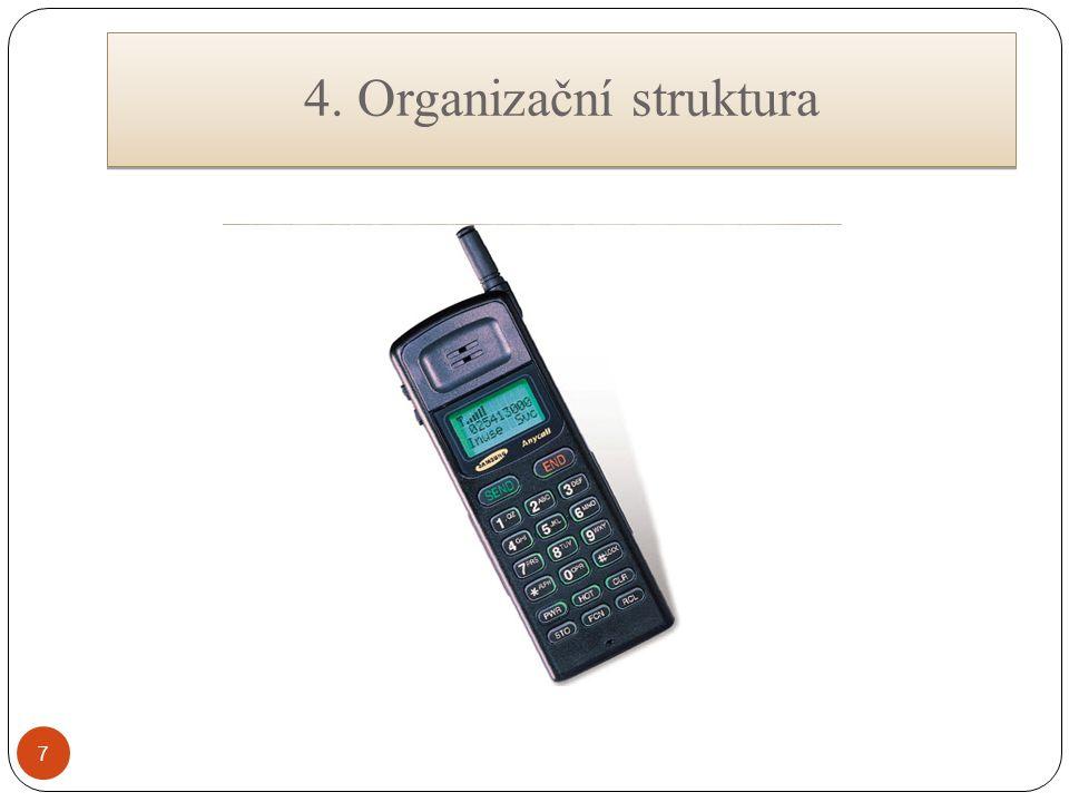 7 4. Organizační struktura