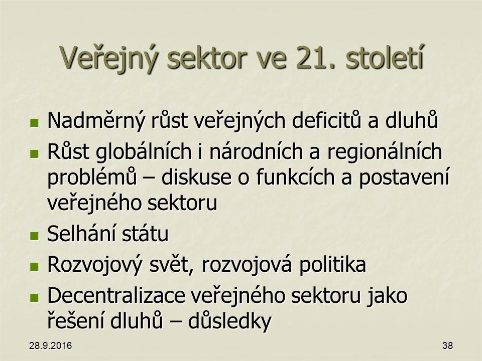 Veřejný sektor ve 21.
